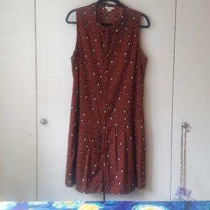 Drop waist, peter pan collar dress